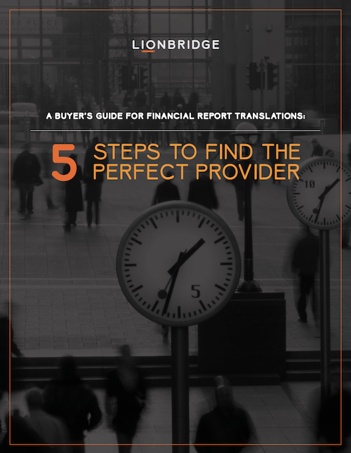 Financial Report Translations Buyer's Guide